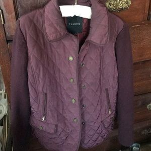 Talbots wine colored quilted jacket